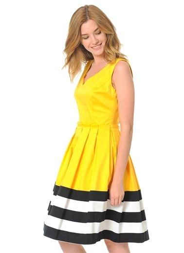Askılı Volanlı Elbise-Jus De Pommes